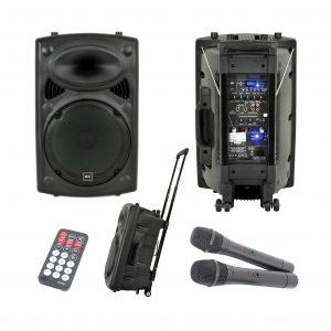"""QTX 15"""" Portable PA Hire"""